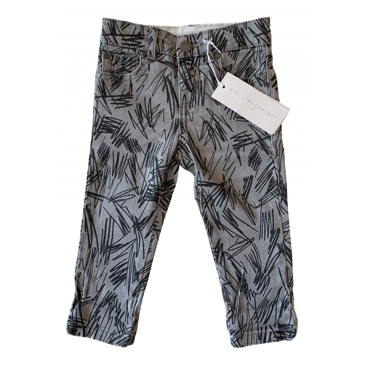 Stella Mccartney Kids N Grey Cotton Trousers for Kids 2 years - up to 86cm FR