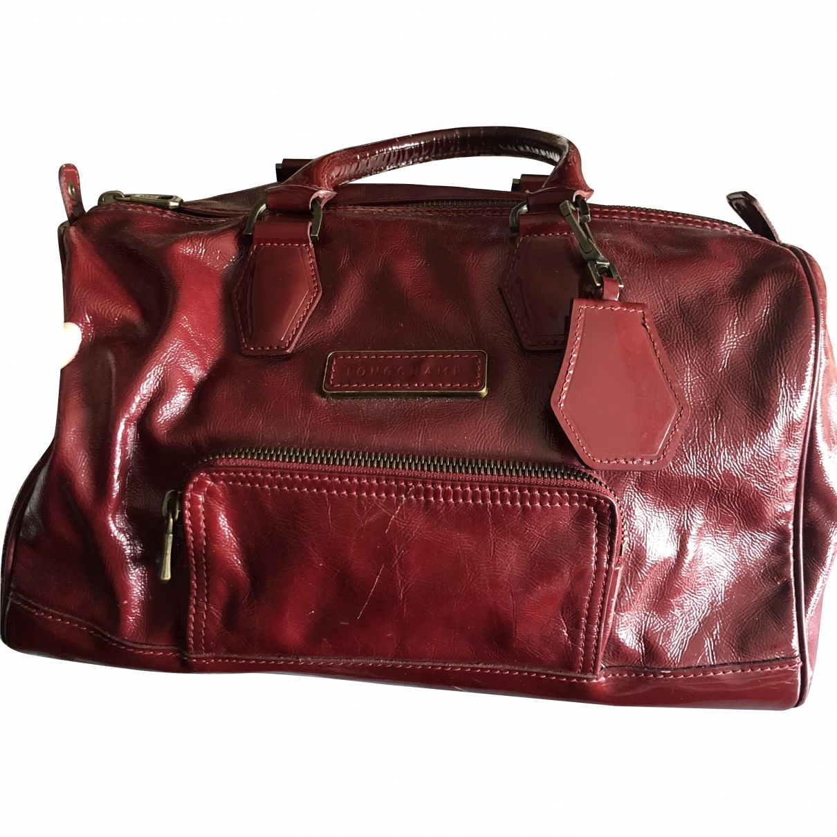Longchamp Légende Burgundy Patent leather handbag for Women \N