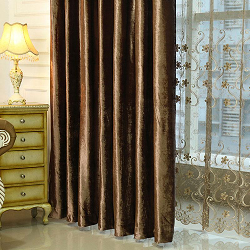 Luxurious Classic Soft Velvet Custom Living Room Grommet Curtains 100% Blackout