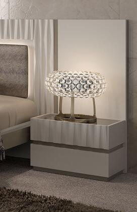 Marina MARINANS 25 Nightstand with 2 Drawers  Self Closing Mechanisms and Matt Lacquer Finish in