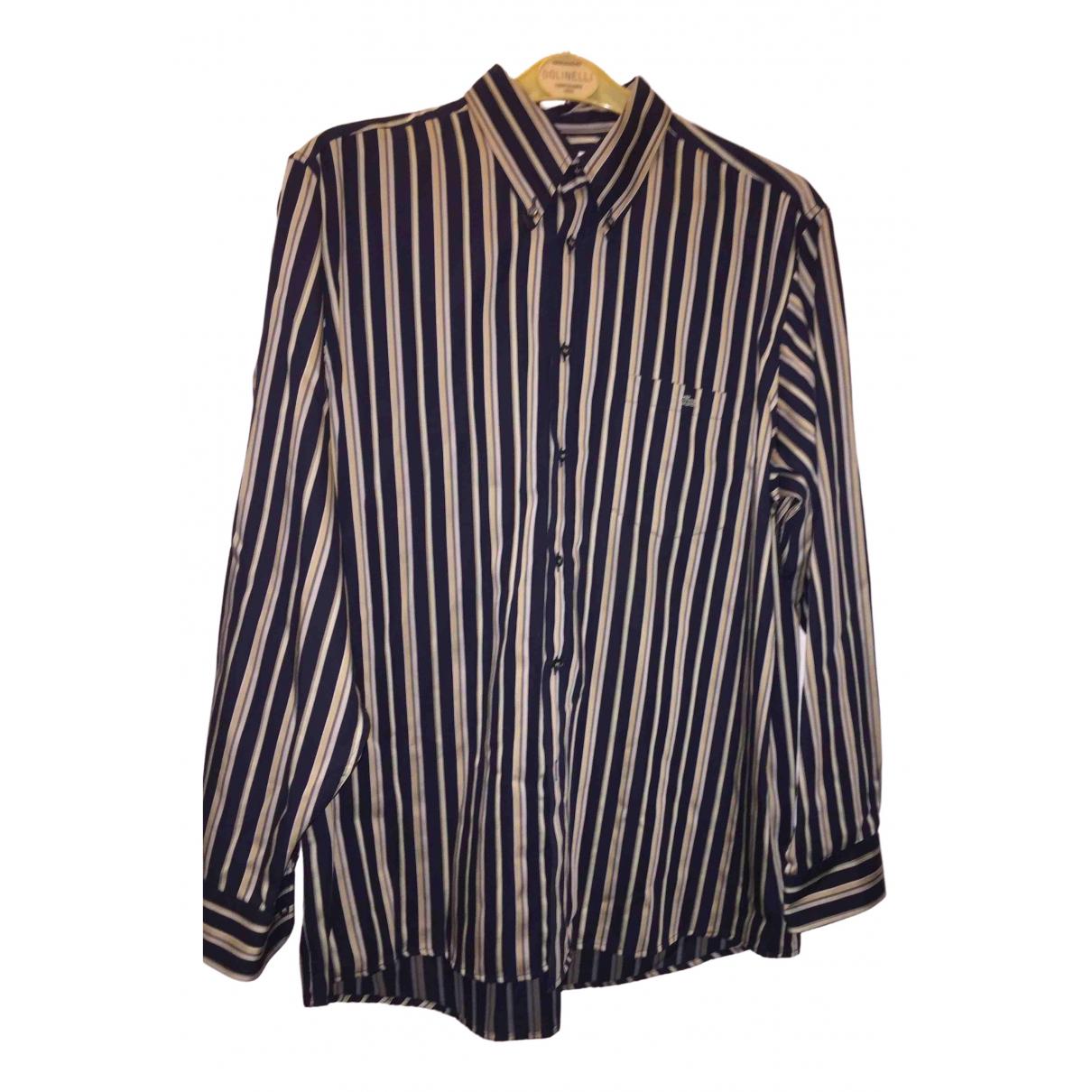 Lacoste N Black Cotton Shirts for Men 44 EU (tour de cou / collar)