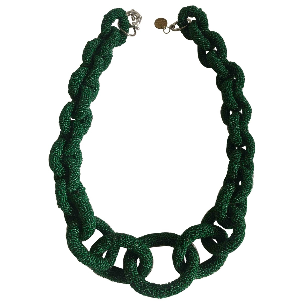 Non Signé / Unsigned \N Green Crystal necklace for Women \N