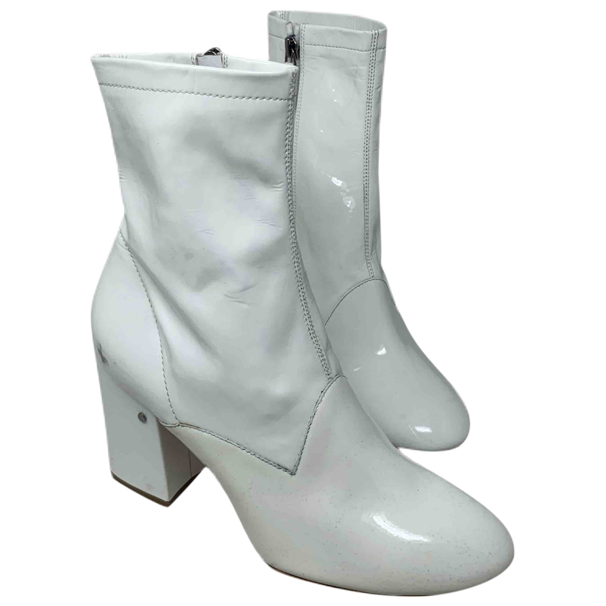 Laurence Dacade N White Patent leather Ankle boots for Women 39 EU