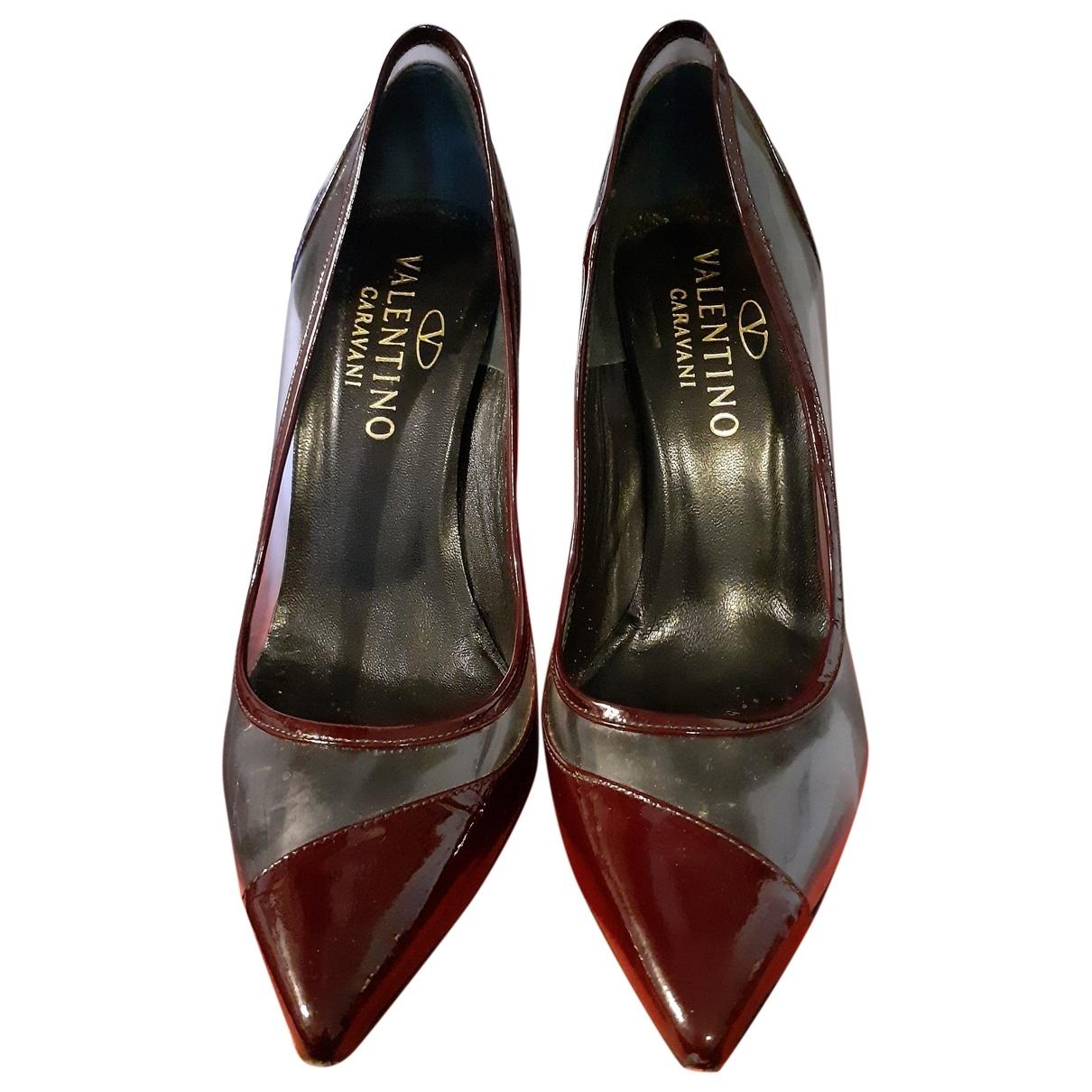 Valentino Garavani - Escarpins   pour femme en cuir verni - bordeaux