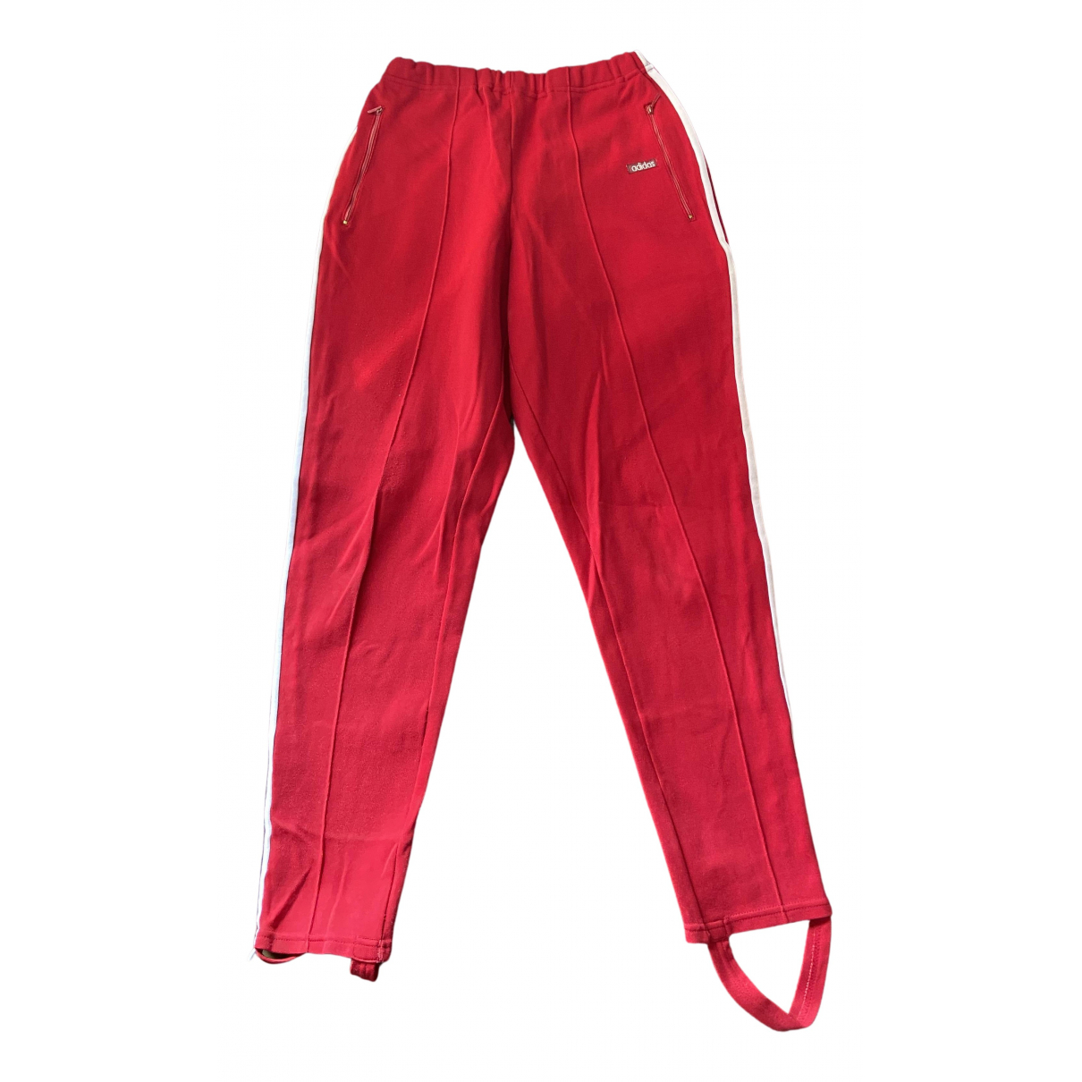 Adidas N Red Cotton Trousers for Women XL International