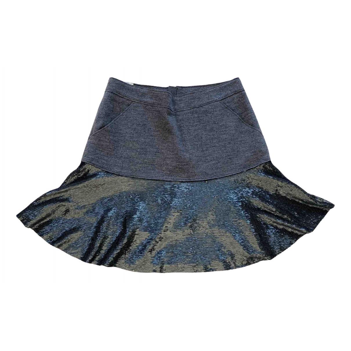 Pinko - Jupe   pour femme en laine - gris