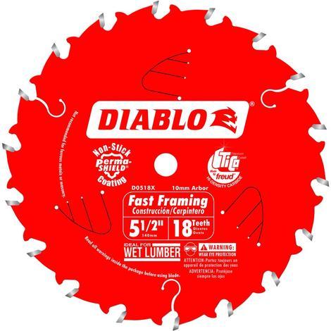 Diablo 5-1/2 in x 18 Tooth Fast Framing Trim Saw Blade