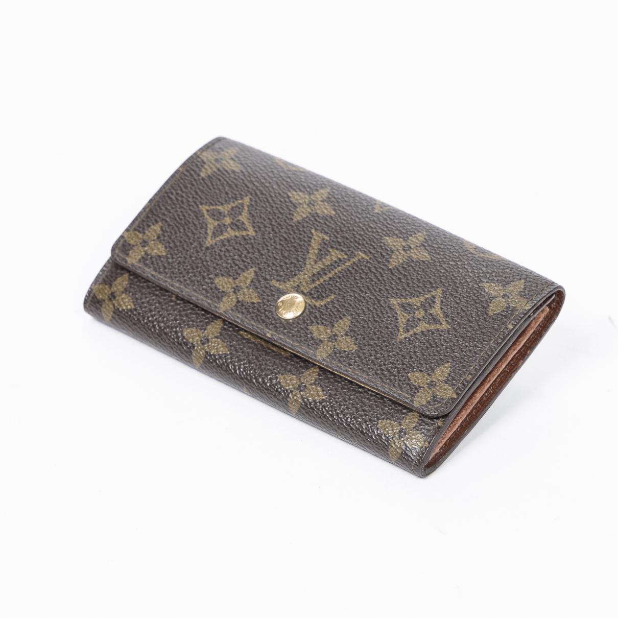 Louis Vuitton - Portefeuille   pour femme en coton - marron