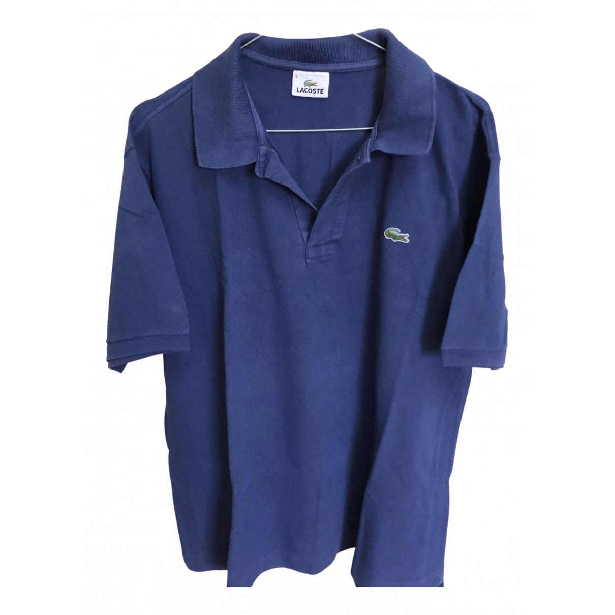 Lacoste N Blue Cotton Polo shirts for Men XXL International
