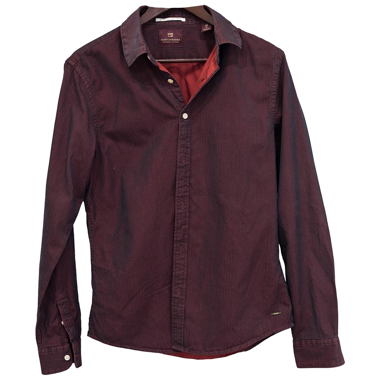 Scotch & Soda \N Burgundy Cotton Shirts for Men M International