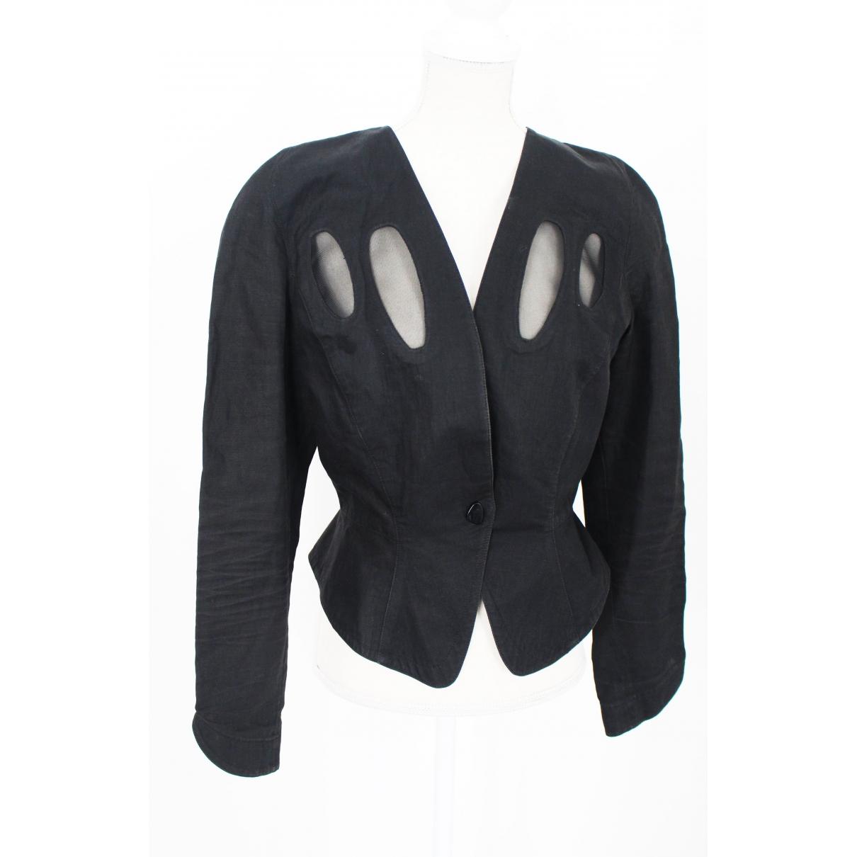 Thierry Mugler - Veste   pour femme en lin - noir