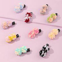10pcs Toddler Girls Colorful Hair Clip
