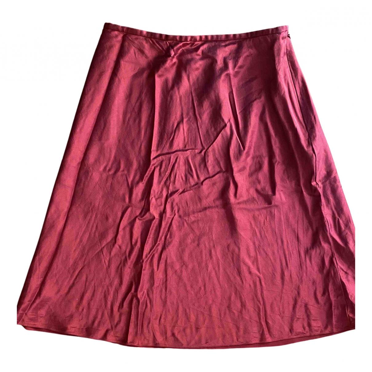 Lauren Ralph Lauren - Jupe   pour femme en soie - rouge