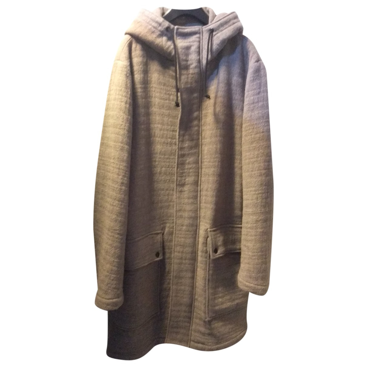 Non Signé / Unsigned Oversize Grey Wool coat  for Men M International
