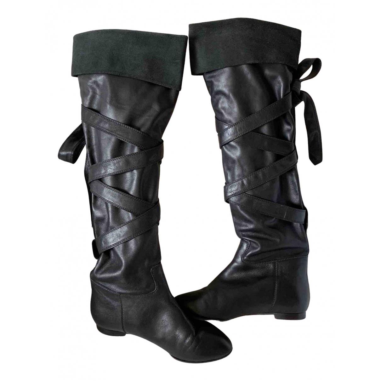 Chloe \N Stiefel in  Schwarz Leder