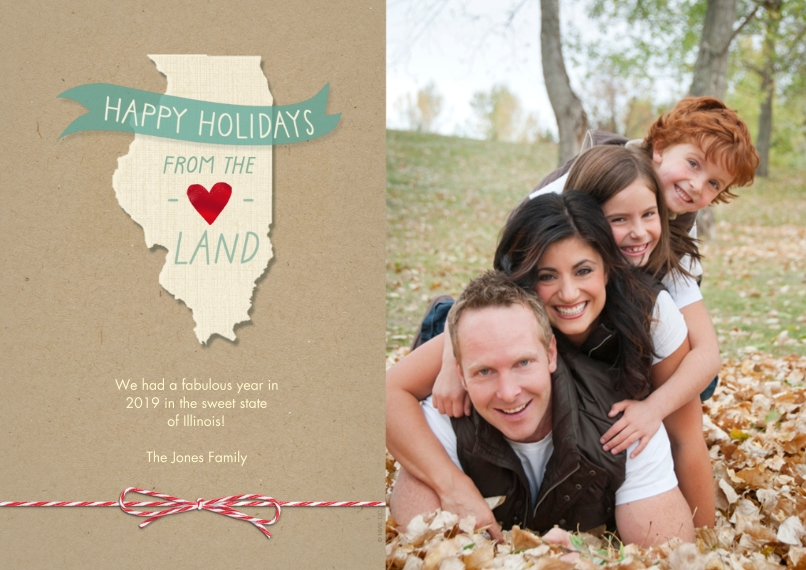 Christmas Photo Cards 5x7 Cards, Standard Cardstock 85lb, Card & Stationery -Happy Holidays From the Heartland by Hallmark