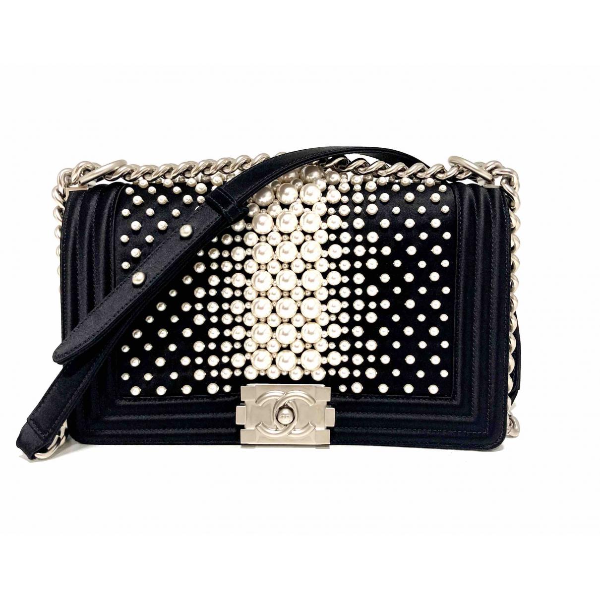Chanel Boy Black Silk handbag for Women N