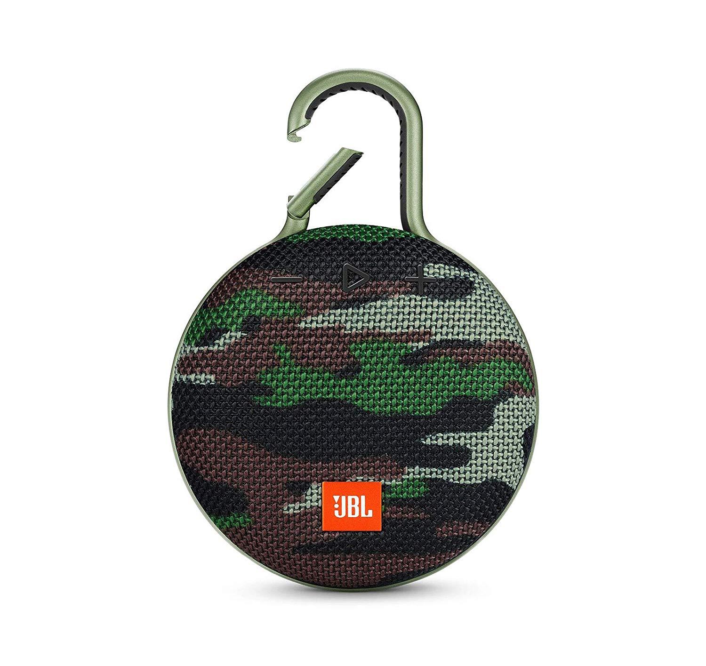 JBL Clip 3 Portable Waterproof Wireless Bluetooth Speaker, Camo