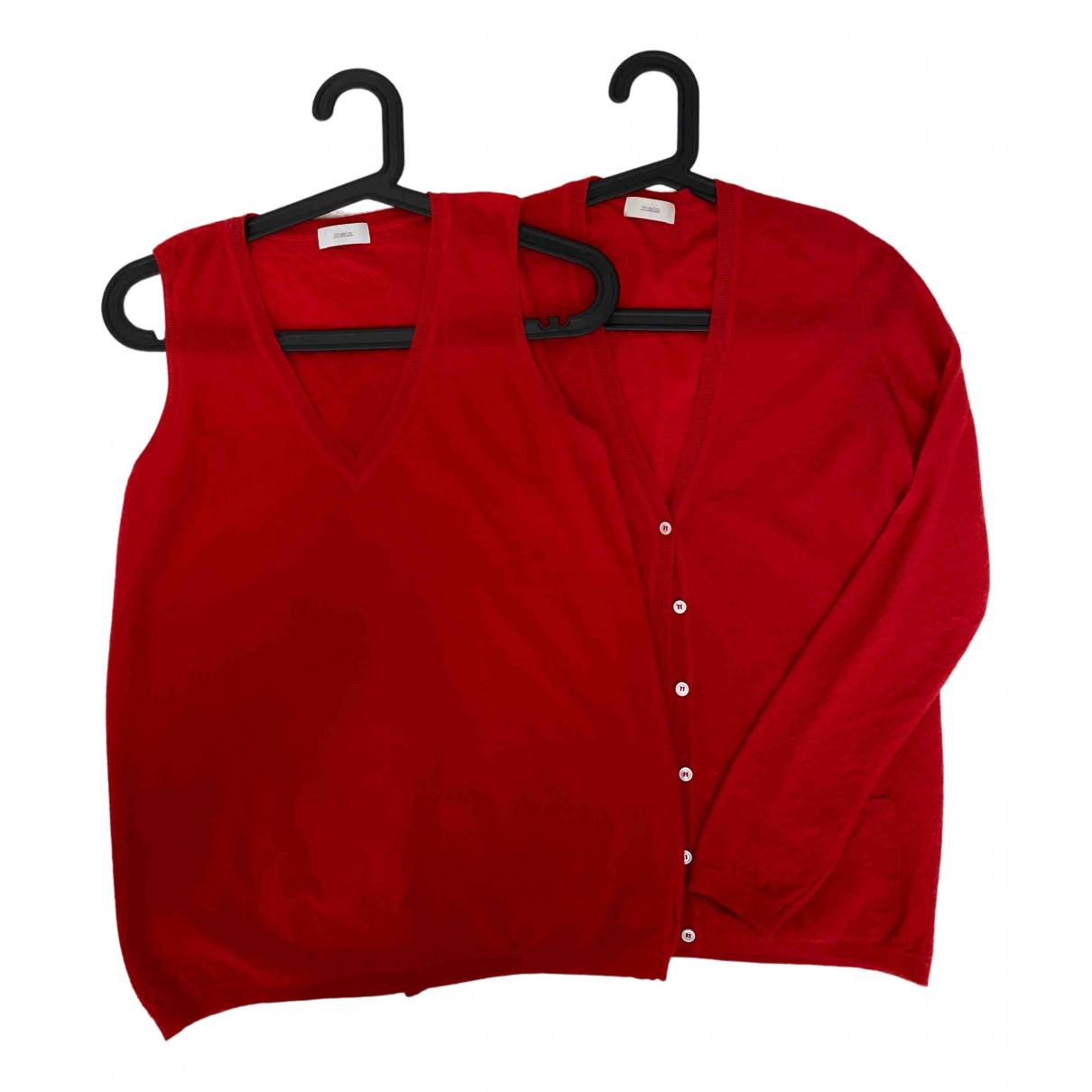 Malo - Pull   pour femme en cachemire - rouge
