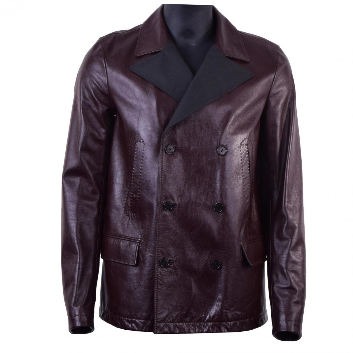 Dolce & Gabbana \N Jacke in  Braun Leder
