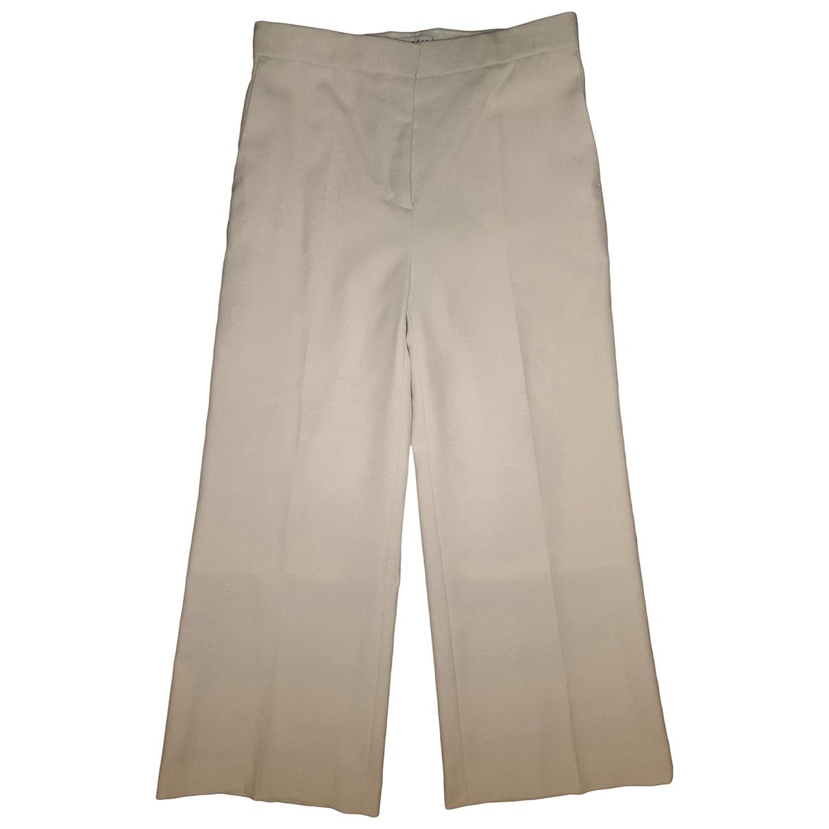 Sandro Spring Summer 2019 Ecru Trousers for Women 38 FR