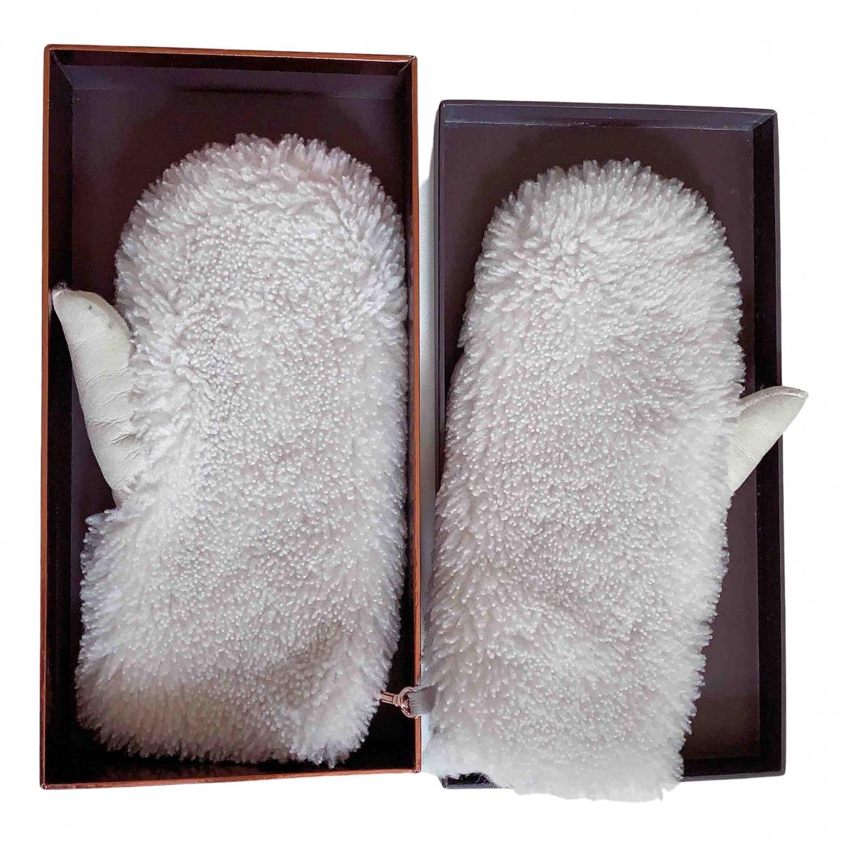 Karl Donoghue \N Handschuhe in  Beige Schaf