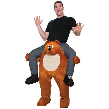 Adult Ride On A Bear Costume Costume, One Size , Multiple Colors
