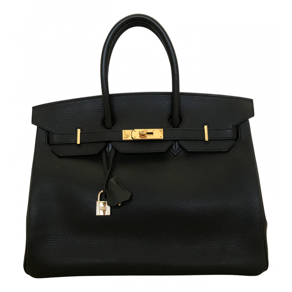 Hermès Birkin 35 Black Leather handbag for Women N