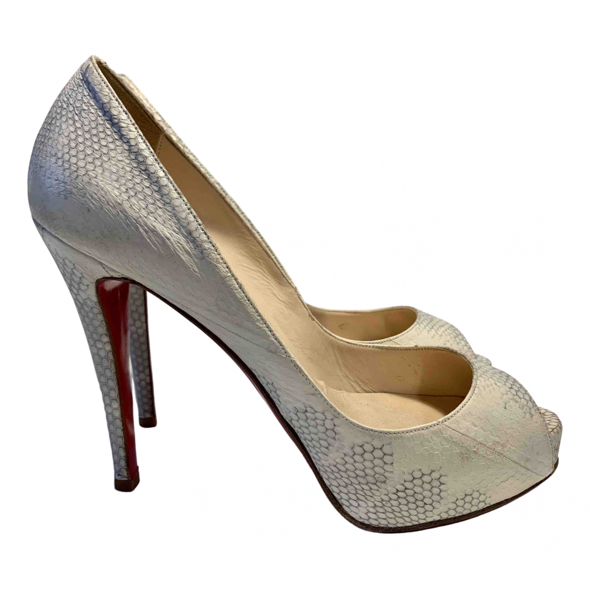 Christian Louboutin Very Prive Pumps in  Weiss Leder
