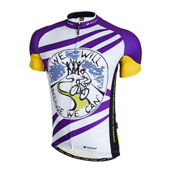 Male Purple Graffiti Breathable Road Bike Jersey Full Zipper Quick-Dry Cycling Jersey