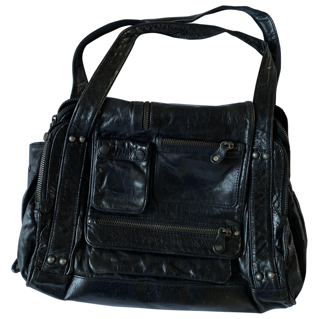 All Saints \N Handtasche in  Schwarz Leder