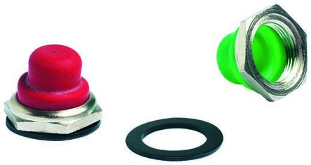 APEM Push Button Boot, for use with 1200, 4700, 4800 Series Push Button Switch,Red (5)