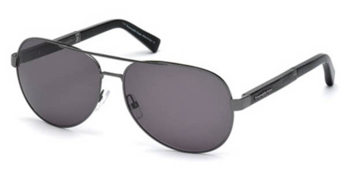 Ermenegildo Zegna EZ0010 12B Mens Sunglasses Black Size 62