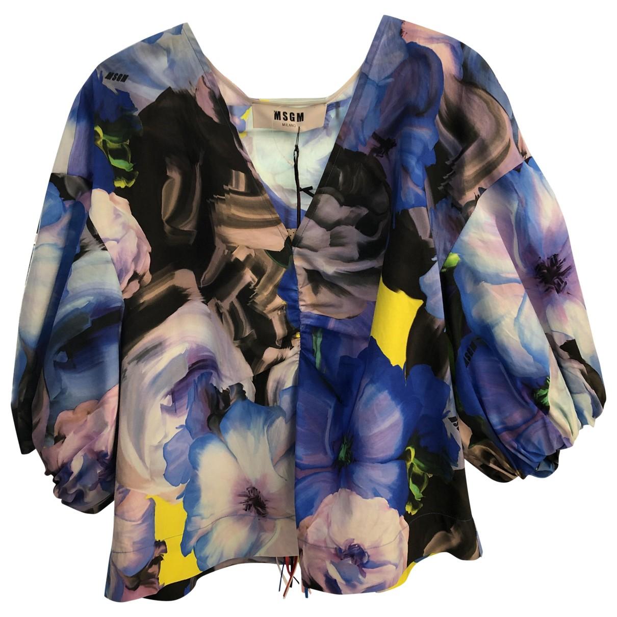 Msgm \N Multicolour Cotton  top for Women 40 IT