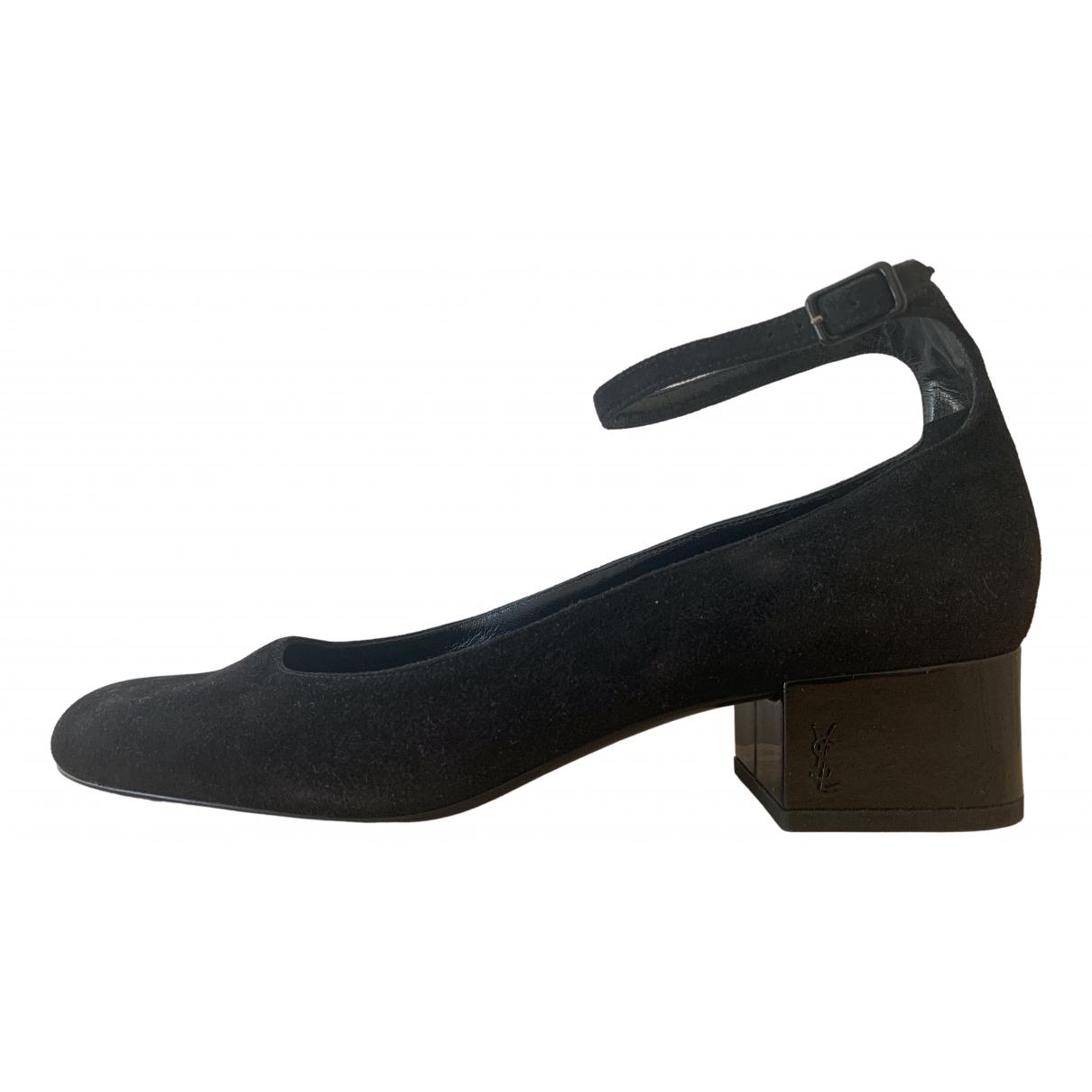 Saint Laurent \N Black Patent leather Heels for Women 40 EU