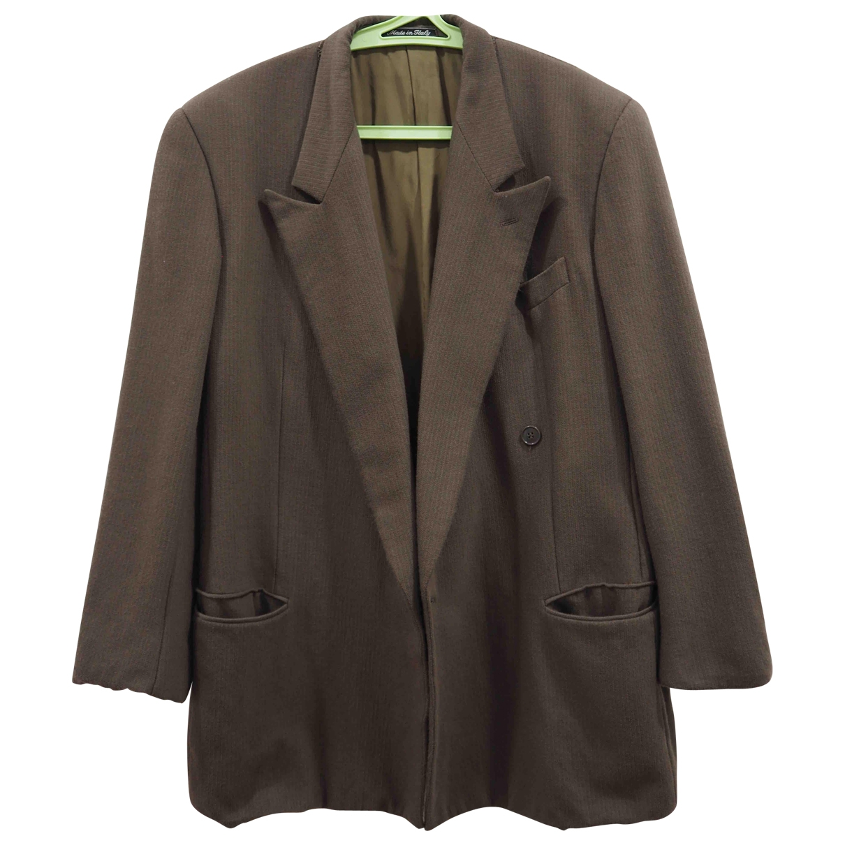 Giorgio Armani \N Jacke in  Beige Wolle