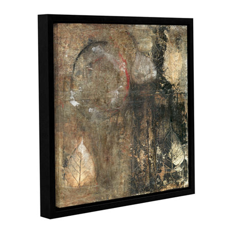 Bodhi Leaf Skeletons Gallery Wrapped Floater-Framed Canvas Wall Art, One Size , Brown