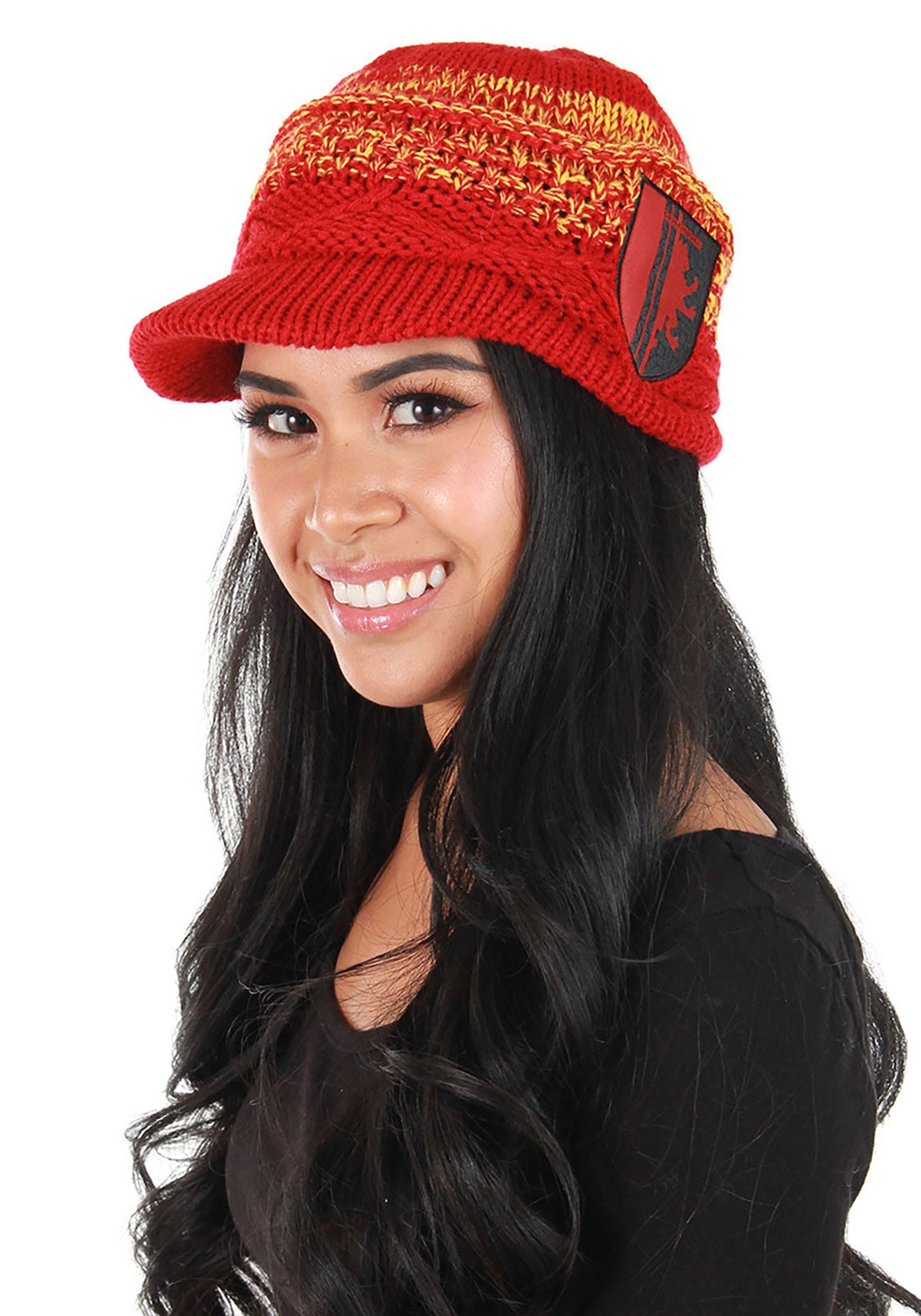 Knit Brim Gryffindor Cap