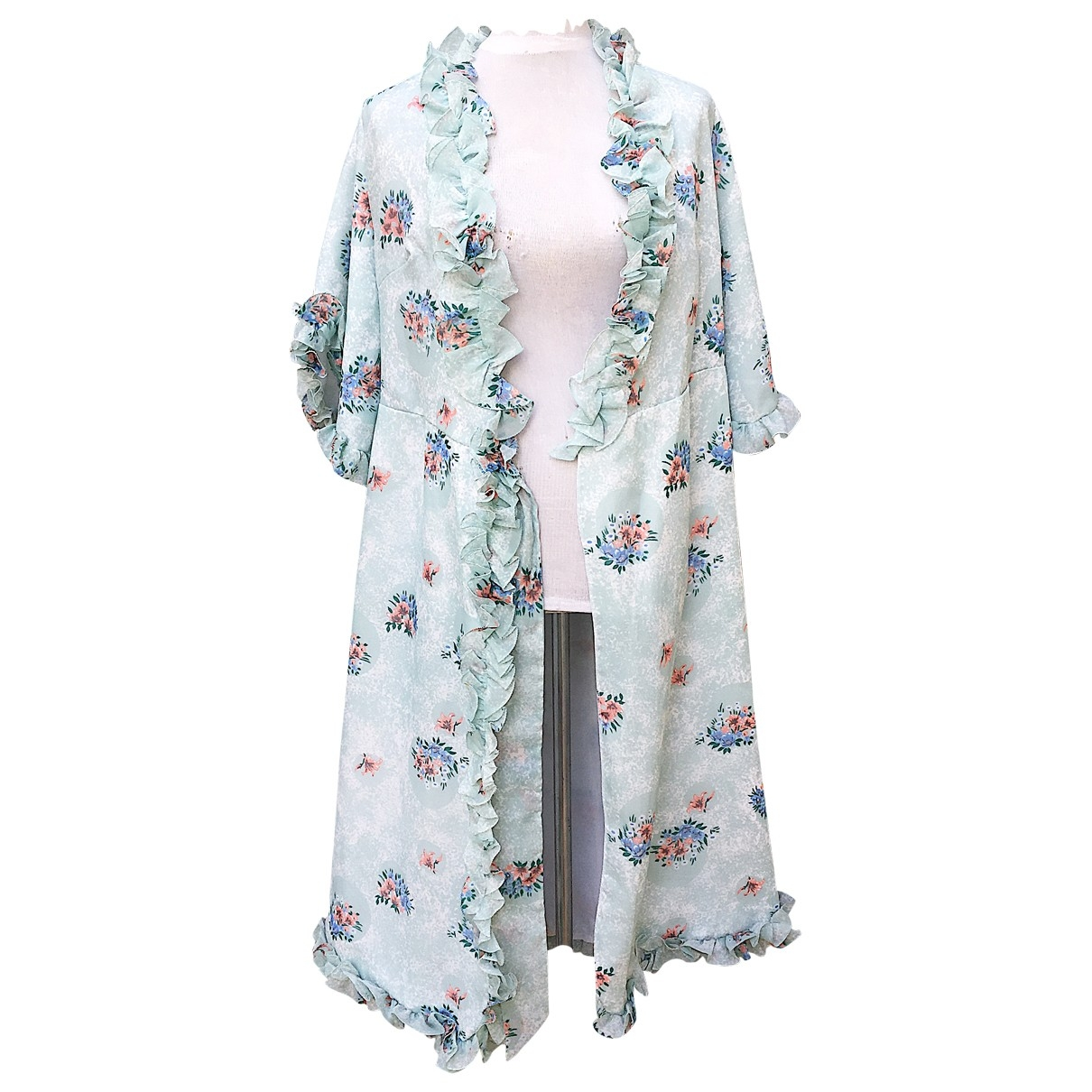 Non Signe / Unsigned Hippie Chic Maentel in  Bunt Polyester