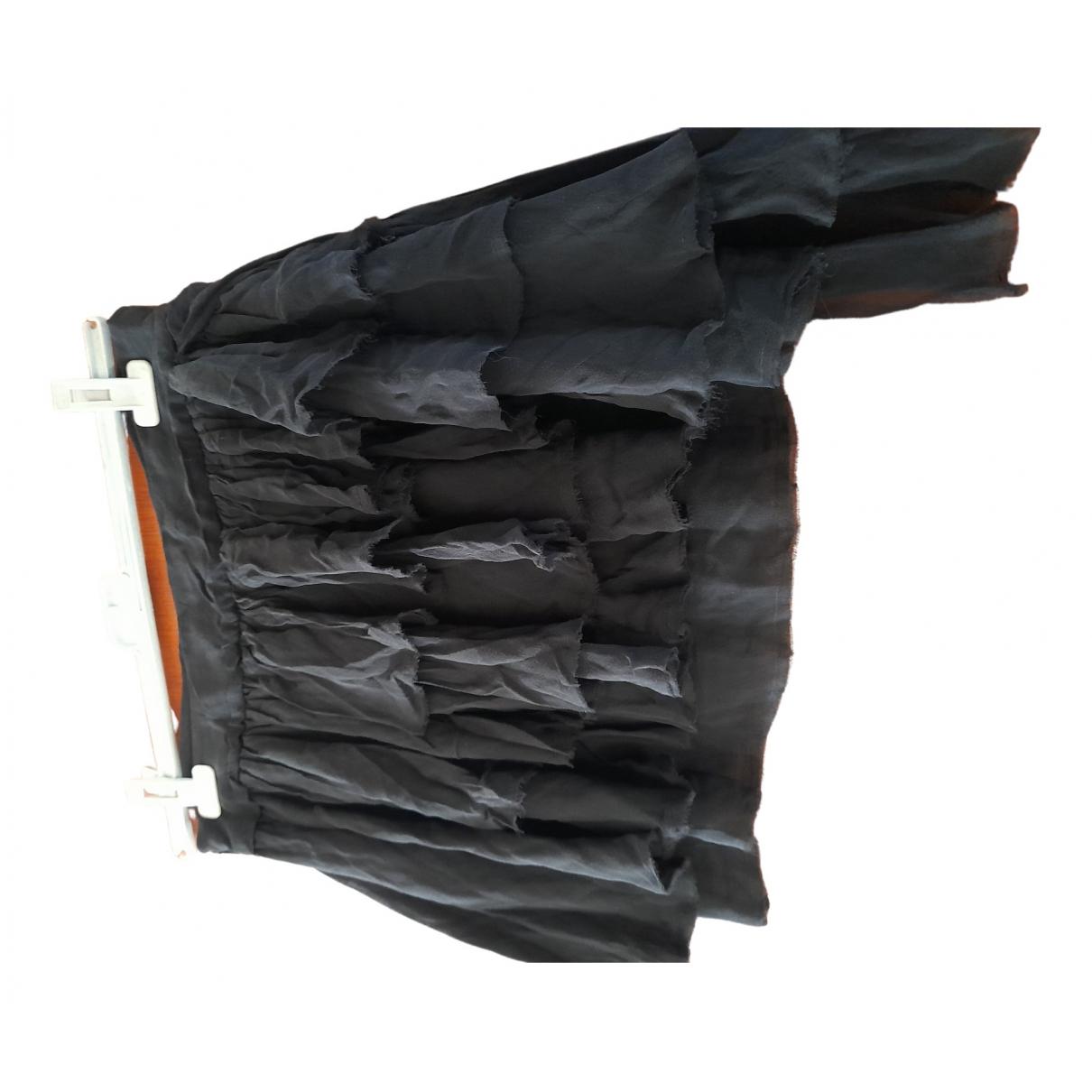 Edun - Jupe   pour femme en soie - noir