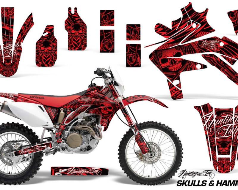 AMR Racing Dirt Bike Decal Graphics Kit Sticker Wrap For Honda CRF450X 2005-2016áHISH RED