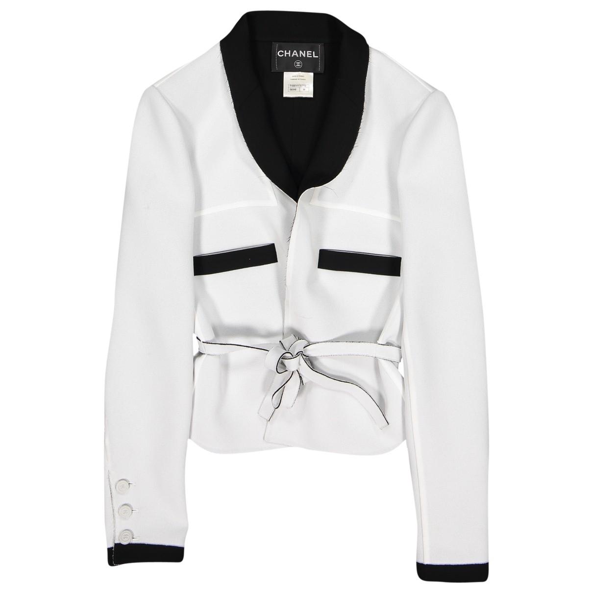 Chanel \N Jacke in  Weiss Polyester