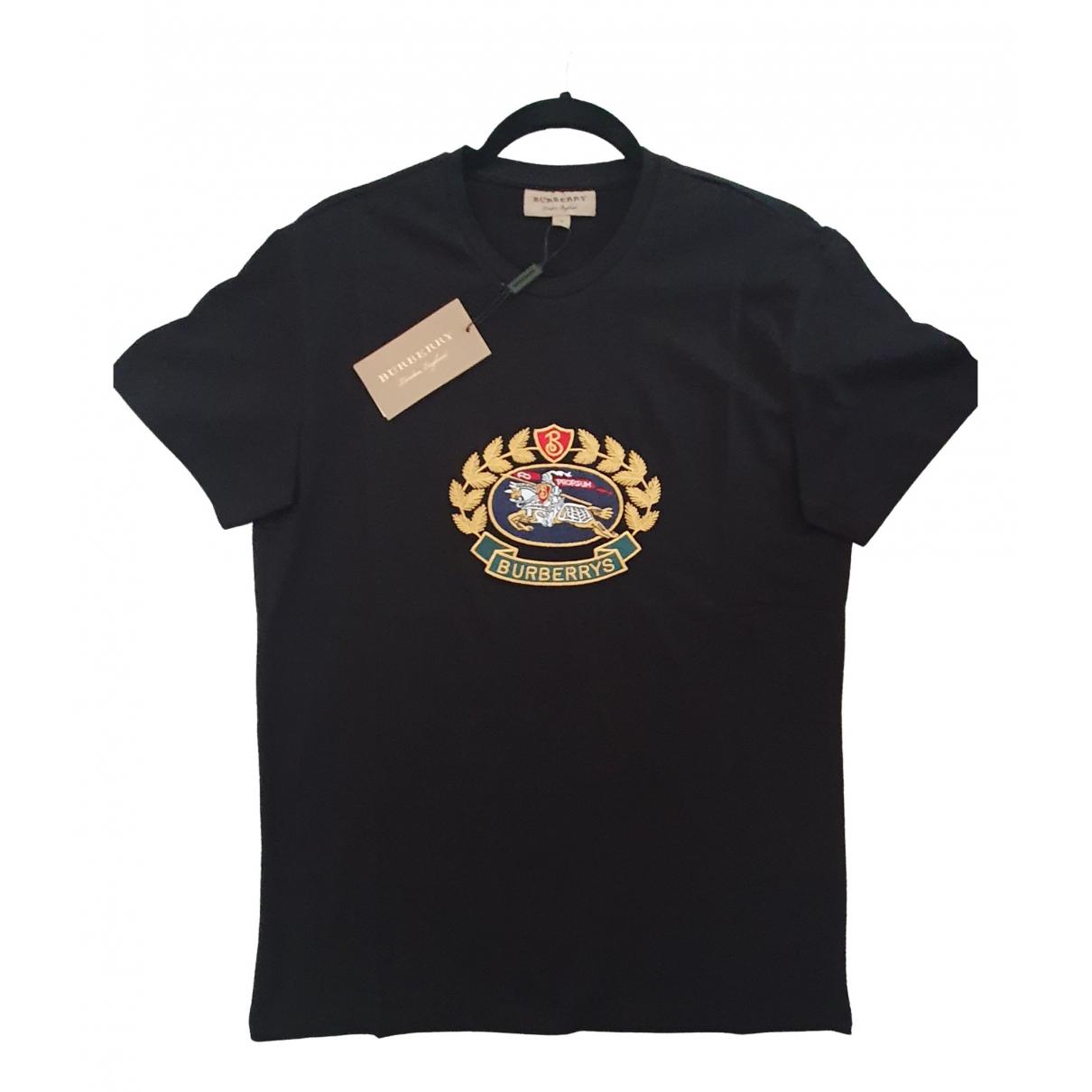 Burberry \N Black Cotton T-shirts for Men S International