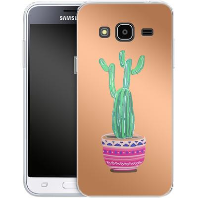 Samsung Galaxy J3 (2016) Silikon Handyhuelle - Cacti Love von Mukta Lata Barua