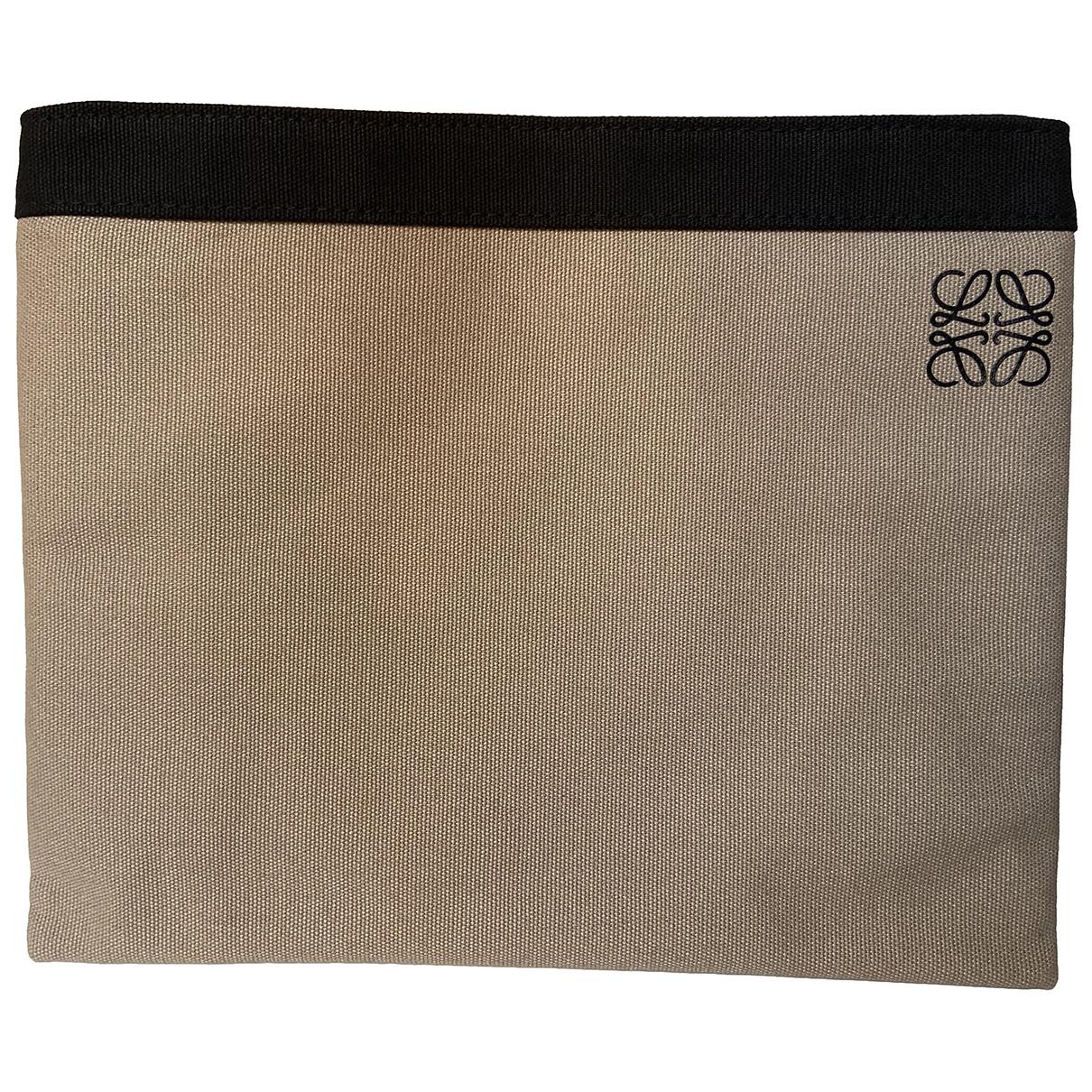 Loewe - Pochette   pour femme en coton - ecru