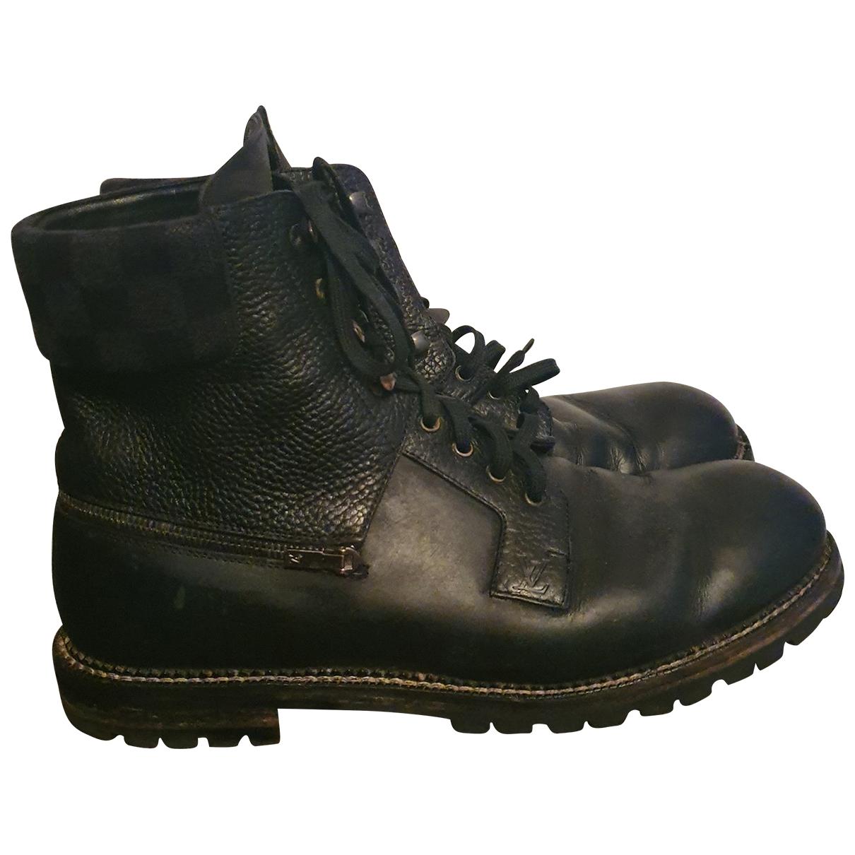 Louis Vuitton \N Black Leather Boots for Men 43.5 EU