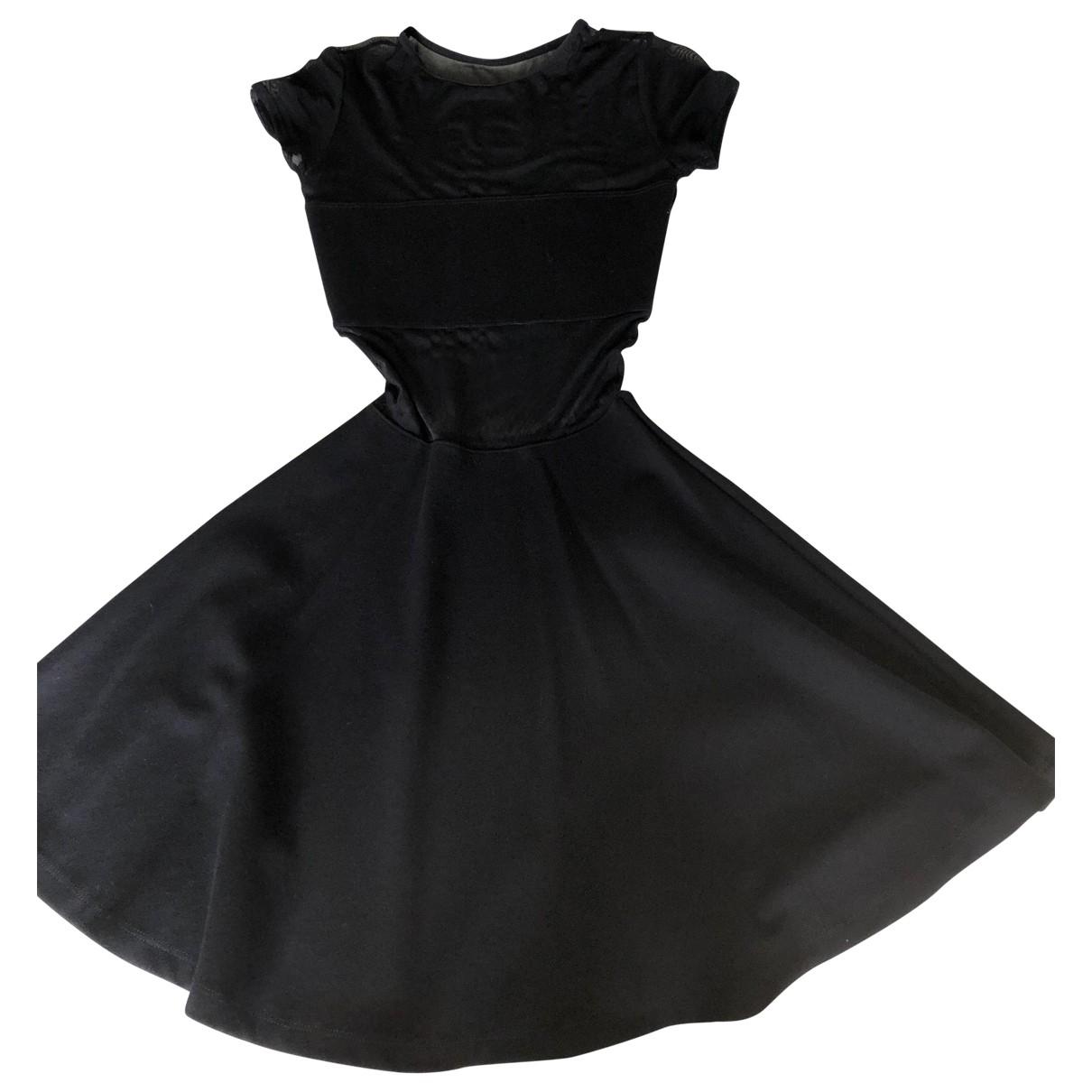 American Apparel \N Kleid in  Schwarz Baumwolle - Elasthan