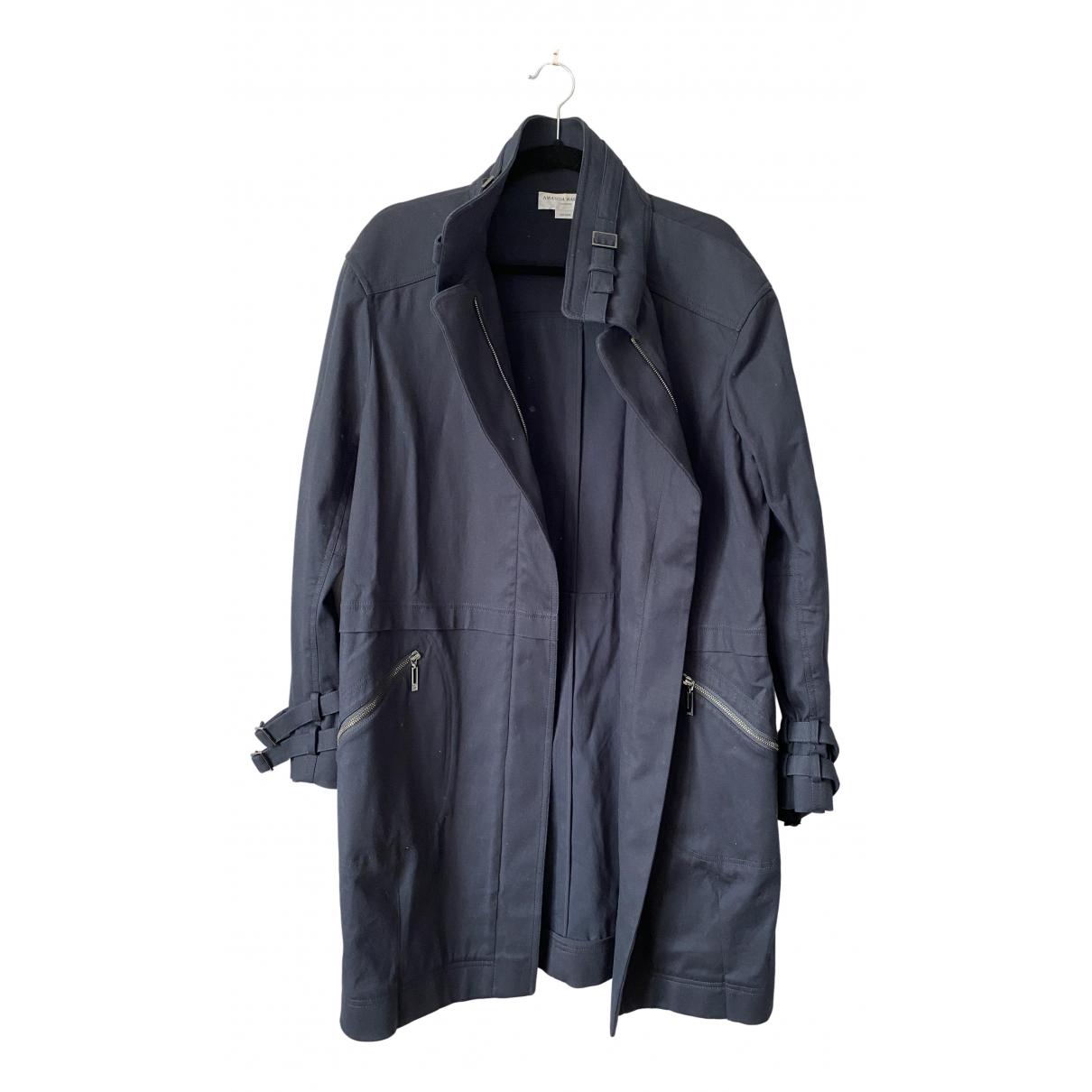 Amanda Wakeley \N Navy Cotton Trench coat for Women M International