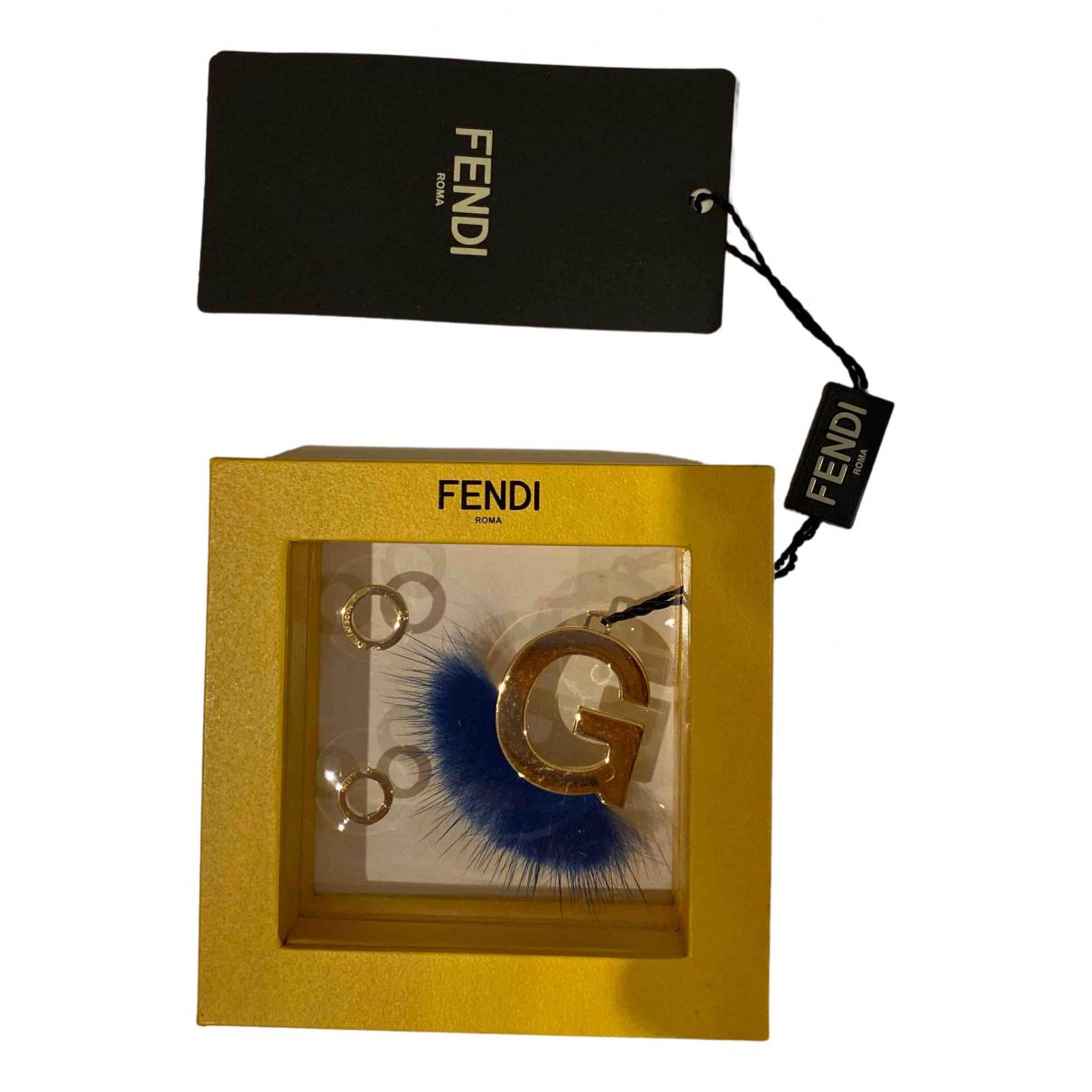 Fendi N Gold Metal pendant for Women N
