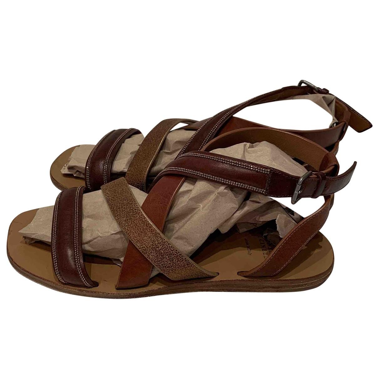 Sandalias romanas de Cuero Brunello Cucinelli